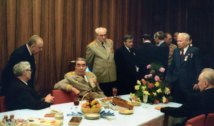 1978年勃列日涅夫与政治局委员