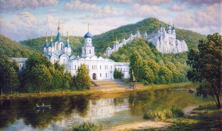 斯维亚托戈尔斯基修道院(油画)