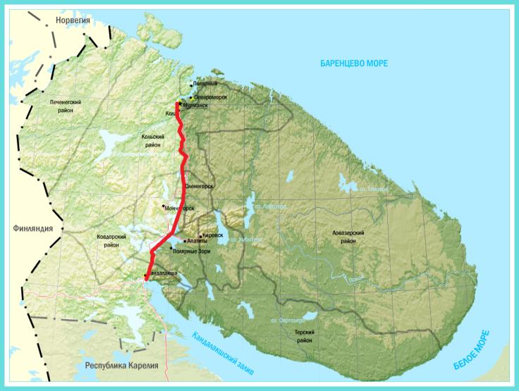 科拉半岛地图